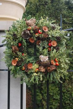Christmas Wreath using natural materials