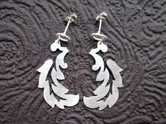 Hannah Louise Lamb - leaf scroll earrings