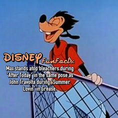 A goofy movie Grease Disney fact Disney World Facts, Disney Fun Facts, Disney Jokes, Disney Nerd, Disney Ideas, Disney Stuff, Disneyland Secrets, Disney Secrets, Disney Lessons