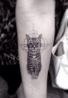45 Cute And Lovely Cat Tattoos Ideas For Cat Lovers - EcstasyCoffee - What more to say other than we just LOVE cool stuff!