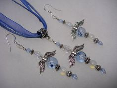 Fairy Inspired Blue Crystal Jewelry Set in Gift by mythicaljewelry, $15.99