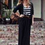 black maxi skirt outfit ideas
