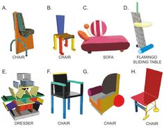 Furniture Donation Pick Up Denver Info: 8761782791 Memphis Design, 80s Design, Shape Design, Memphis Furniture, Garden Design Plans, How To Clean Furniture, Furniture Cleaning, Design Movements, Design Language