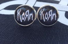 New addition to the Music & Love section of my shop :) Korn studs l band jewelry l rock music  By HybridMomentsDesigns, $10.00