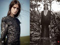 Harper's Bazaar UK September 2014 Wild Beauty Josephine Van Delden by Tom Allen Styled by Cathy Casterine