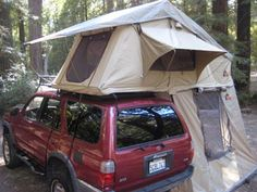 Tepui Tents - Autana - Mounts to your roof rack. It unfolds, pops up, and has an attached telescoping ladder. $1325