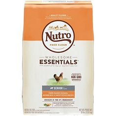 Nutro Wholesome Essentials Small Breed Puppy Farm-Raised Chicken, Brown Rice and Sweet Potato Recipe 5 Pounds Nutro Dog Food, Best Dog Food, Puppy Food, Dog Food Recipes, Chicken Recipes, Dinner Recipes, Chicken And Brown Rice, Chicken Rice, Chicken Dog