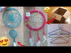 COMO HACER UN ATRAPASUEÑOS CON LANA 🌙 DIY DREAMCATCHER - YouTube Crafts For Teens, Crafts To Make, Easy Crafts, Arts And Crafts, Macrame Tutorial, Diy Tutorial, Moon Dreamcatcher, Jute Crafts, Unique Toys