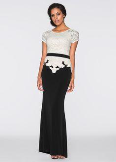 Abendkleid, BODYFLIRT boutique, schwarz/cremeweiss