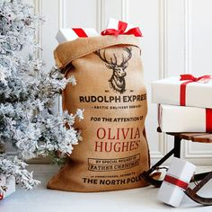 The Marlowe Christmas Sack // Christmas Decoration Ideas // Christmas Decorations For The Home // Santa Sack // Christmas Gift Ideas