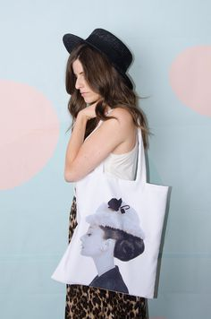 Hatted Audrey – the Audrey Hepburn tote