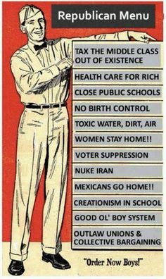 Vote republican? Here is what you stand for. 3/18