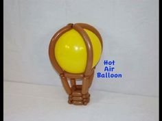How to Make a Hot Air Balloon with Balloon Twisting by Stretch the Balloon Dude - YouTube
