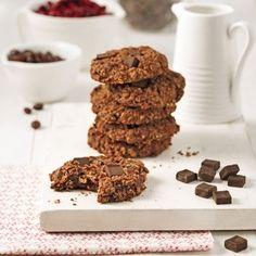 Gageons que la présence de haricots noirs et de haricots rouges dans ces biscuits passera incognito! Cacao Beans, Snack Recipes, Snacks, Protein Foods, Cookie Desserts, Coco, Food Inspiration, Muffins, Vegan Vegetarian