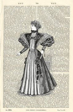 Victorian Lady With Fan Vintage Illustration by PigAndGinStudios, $10.00