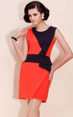 TS Color Block Elegant Jersey Dress