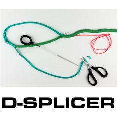 D-SPLICER rope splicing tools #fids #needles #softfid #scissors #dsplicer #splicing #yacht #rigging #ropes #dyneema #premiumropes #wirefid #ropesplicing #tools #splice #eyesplice #splicer #online #worldwideshipping #splicingkit #arborists #sailors #riggers