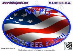 LEO Oval Sticker - NYPD