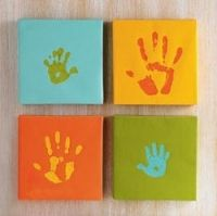 Unique Gift Idea - Handprint Canvas Print