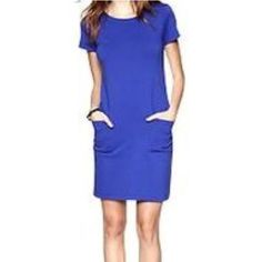 aacd792b63e GAP Shift Dress Cotton royal blue shift dress with front pockets. GAP  Dresses Gap Dress