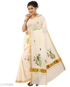 Checkout this latest Sarees Product Name: *Stylish Cotton Women's Saree* Saree Fabric: Cotton Blouse: Running Blouse Blouse Fabric: Cotton Pattern: Printed Sizes:  Free Size Easy Returns Available In Case Of Any Issue   Catalog Rating: ★4.4 (188)  Catalog Name: Kasavu Drishya Stylish Cotton Womens Sarees Vol 2 CatalogID_136862 C74-SC1004 Code: 036-1110424-1761