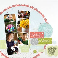 Spring Additions #Scrapbooking Layout from Creative Memories    www.creativememor...