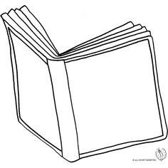 Disegno di Libro Aperto da colorare