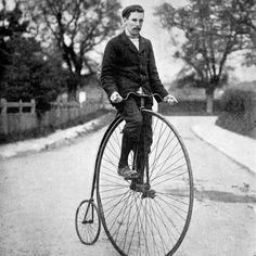 Photographic Print: The 'Penny Farthing' or 'Ordinary' Bicycle of the 1870's : 16x16in