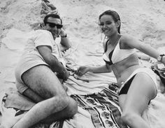 Beach Life '65. Sean Connery and Claudine Auger.