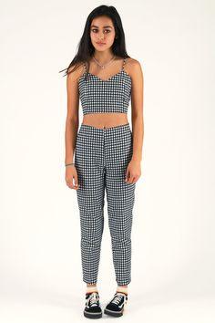 41538bf155 Pants - Flanel Black and White Checker