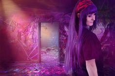 Bunte Farben - SchneePunzel - professionelle Haarverlängerungen und Dreadlocks Violet, Purple Hair, Elegant, Hair Extensions, Dreadlocks, Make Up, Neon Signs, Professional Hair Extensions, Classy