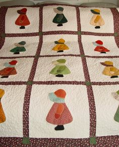 sun bonnet sue quilt - inspiration to take a vintage pattern and use contemporary fabrics