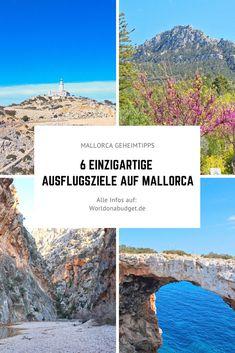 Du planst einen Urlaub auf Mallorca, aber willst nicht immer am Strand liegen? Dann ließ schnell unsere Geheimtipps für unvergessliche Ausflüge auf Mallorca. Wir geben dir Tipps wo du Schöns Ausflugsziele findest und wie du dort hinkommst. Entdecke die Insel von ihrer unbekannten Seite mit uns.   #mallorca #geheimtipps #ausflug #ausflugsziele #urlaub Menorca, Reisen In Europa, Europe Travel Guide, Strand, Roadtrip, Group, Board, Latin America, Croatia