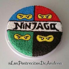Ready all for Betito& birthday at his school. We prepare a rich vanilla cak. Birthday Cake Cookies, Ninja Birthday Cake, Ninja Cake, Ninja Birthday Parties, Birthday Fun, Bolo Ninjago, Lego Ninjago Cake, Ninjago Party, Lego Cake