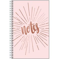 Light Pink Metallic Notebook ($5.85) ❤ liked on Polyvore featuring home, home decor and stationery