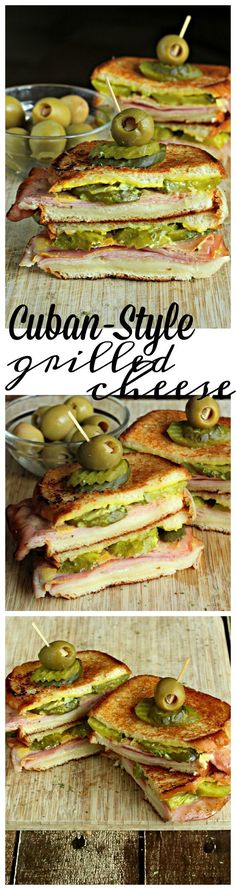 A Cuban-style grilled cheese sandwich.