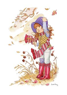 New illustration art kids children sarah kay Ideas Sarah Key, Holly Hobbie, Mary May, Illustrations Vintage, Dibujos Cute, Vintage Drawing, Vintage Children, Art Children, Art Kids