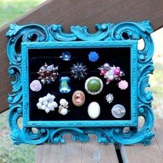 Upcycle a vintage picture frame into a fabulous ring or earring display!