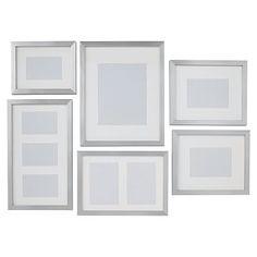 Gallery Frames, Set of 6, Metallic Silver
