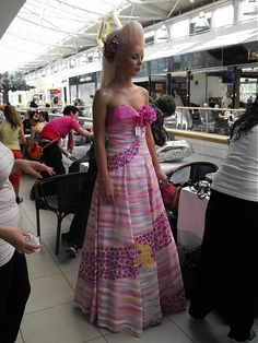 Cherie-Cherie / Haute couture dress - hand painted