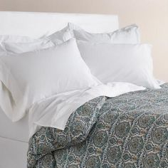 One of my favorite discoveries at WorldMarket.com: Mesha Blue Medallion Duvet Cover