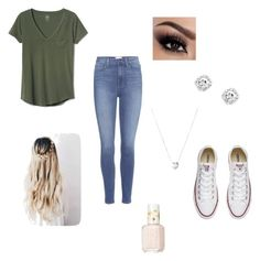 """Untitled #2"" by zac124 on Polyvore featuring Gap, Paige Denim, Links of London, Converse and Essie"