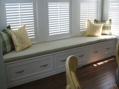 Bay Window Bench Seat window bench cushion with pillows | my creations | pinterest