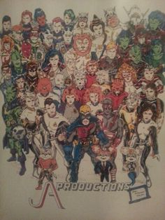 JA PRODUCTIONS Characters.  Copyright 1988.