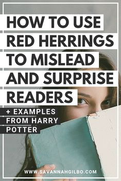 Want to learn how to pull off an amazing plot twist in your story? Learn how to mislead and surprise your reader by planting red herrings throughout your story. Creative Writing Tips, Book Writing Tips, Writing Words, Fiction Writing, Writing Resources, Writing Help, Writing Skills, Writing Prompts, Writing A Novel