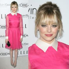 Emma Stone at ELLE's 19th Annual Women in Hollywood Celebration held at Four Seasons Hotel in California on October 15, 2012