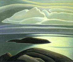 Harris, Lawren (Canadian , - Clouds, Lake Superior - c 1923 Group Of Seven Artists, Group Of Seven Paintings, Tom Thomson, Canadian Painters, Canadian Artists, Emily Carr, Abstract Landscape, Landscape Paintings, Landscapes