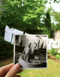 i love this idea.  and i have all the old photos upstairs. just wish i lived closer to where they were taken.
