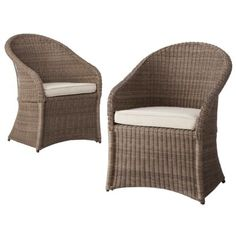 Our dining chairs: Threshold™ Holden Wicker Patio Dining Chair Set Wicker Patio Chairs, Patio Cushions, Outdoor Chairs, Outdoor Spaces, Green Cushions, Patio Table, Outdoor Seating, Outdoor Ideas, Backyard Ideas