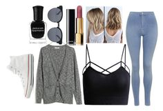 """""""Untitled #412"""" by niallerzprincess0529 ❤ liked on Polyvore featuring Chanel, Topshop, Madewell, Quay, Converse and Deborah Lippmann"""